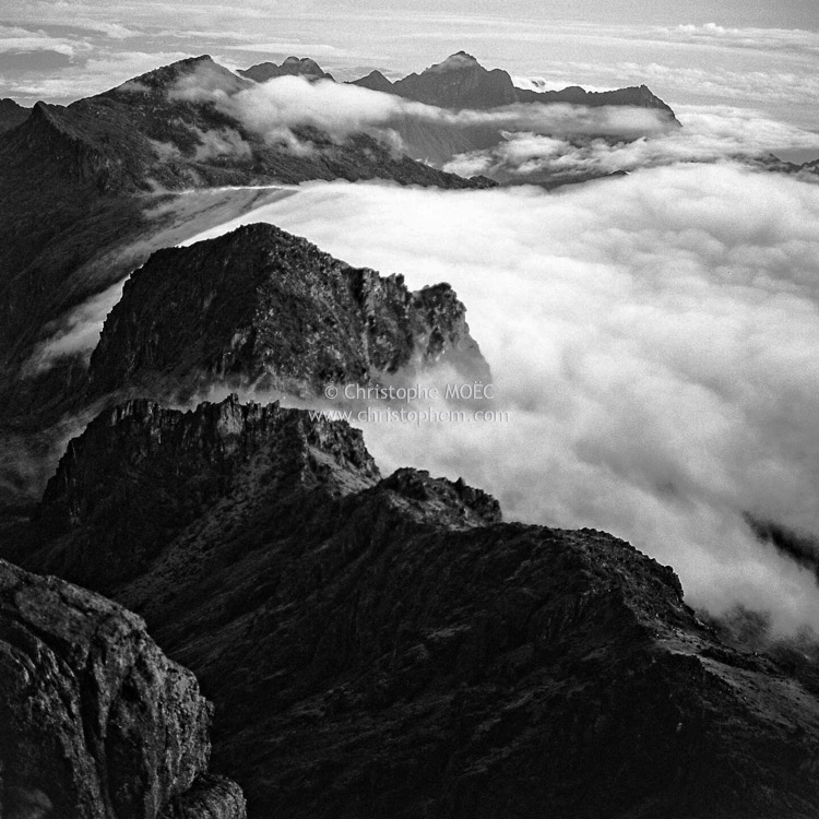 Papua New Guinea: Mount Wilhelm, the mountain which stands alongside the oceanian clouds