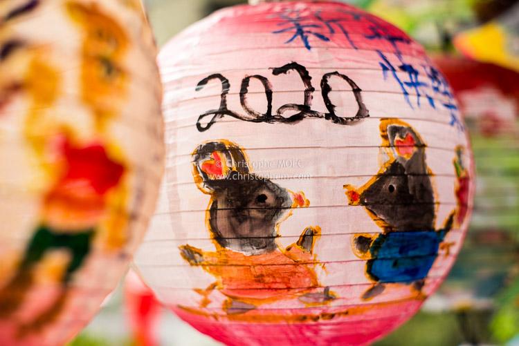 Taïwan : lanternes du nouvel an 2020 à Tapei, année du Rat... et du coronavirus